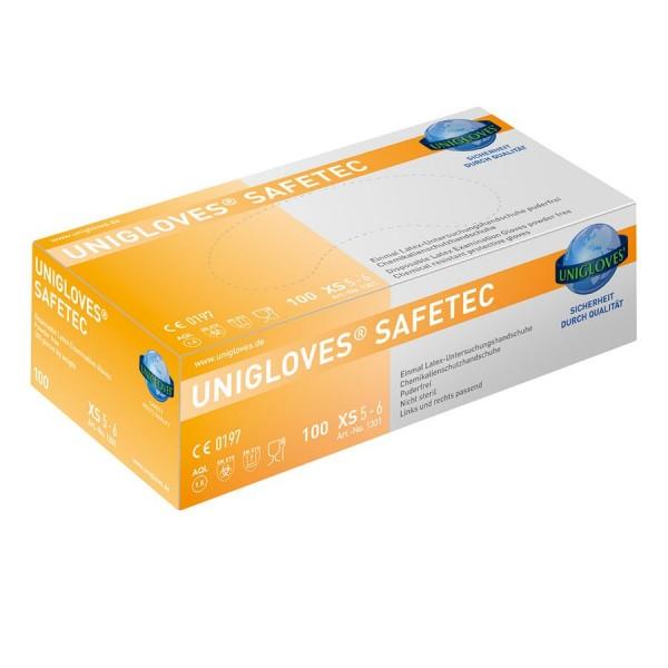 Unigloves Safetec Latex Einweg-Handschuhe