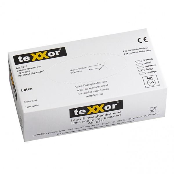 texxor Latex-Einweghandschuhe ungepudert Box