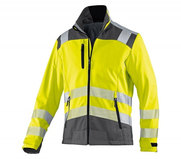Kübler Reflectiq Softshell Jacke PSA 2 Form 1507 warngelb/anthrazit