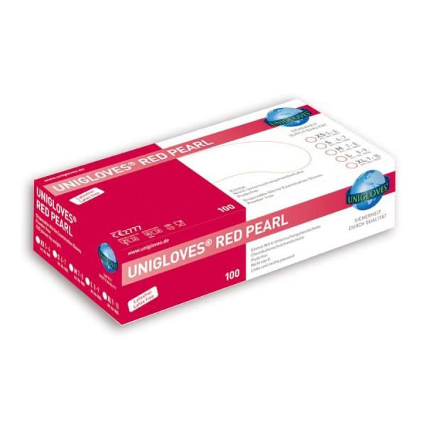 Unigloves Einweg-Handschuhe aus Nitril Red Pearl Box