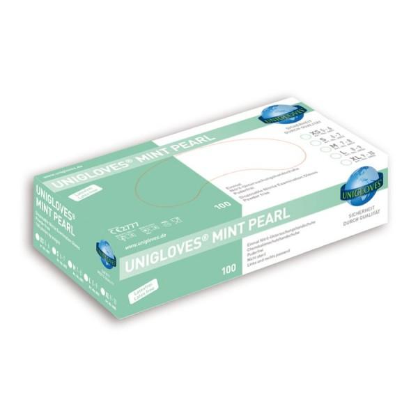 Unigloves Einweg-Handschuhe aus Nitril Mint Peral Box