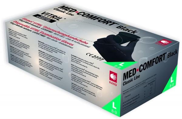 Ampri MED COMFORT Black Vitril-Einmalhandschuhe Box