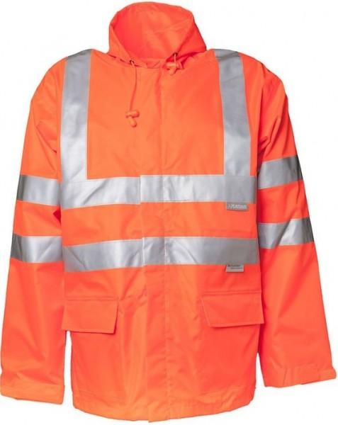 Planam Warnschutz Regen Jacke Uni orange