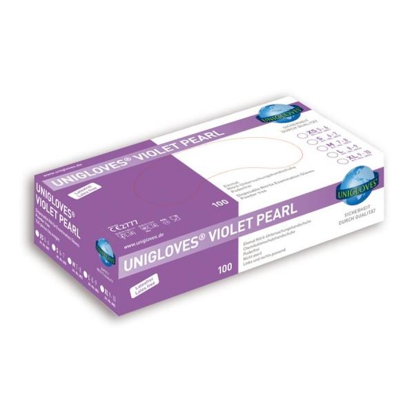 Unigloves Einweg-Handschuhe aus Nitril Violet Peral Box