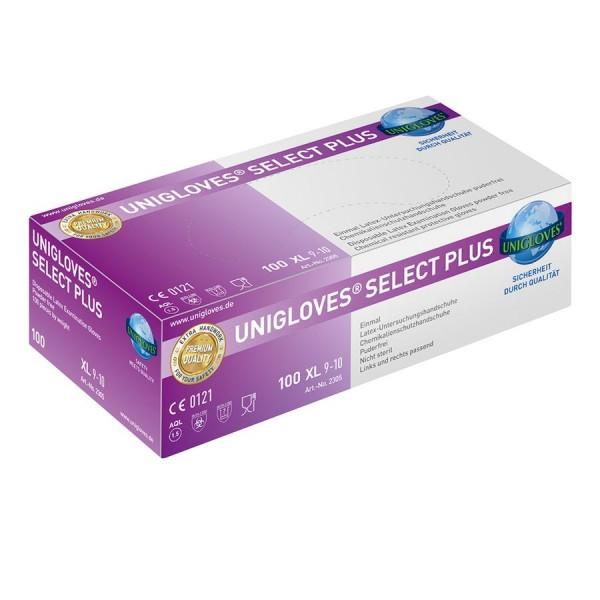 Unigloves Einweg-Handschuhe aus Latex Select Plus