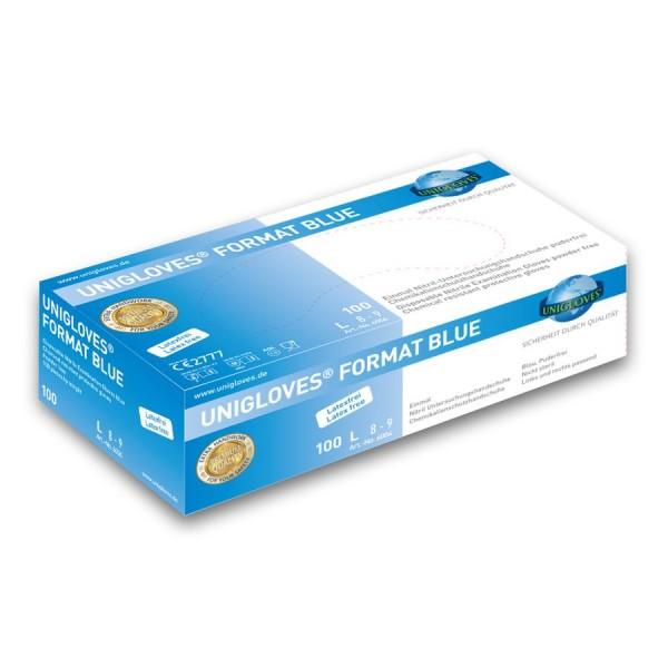 Unigloves Nitril Format Blue Einmalhandschuhe