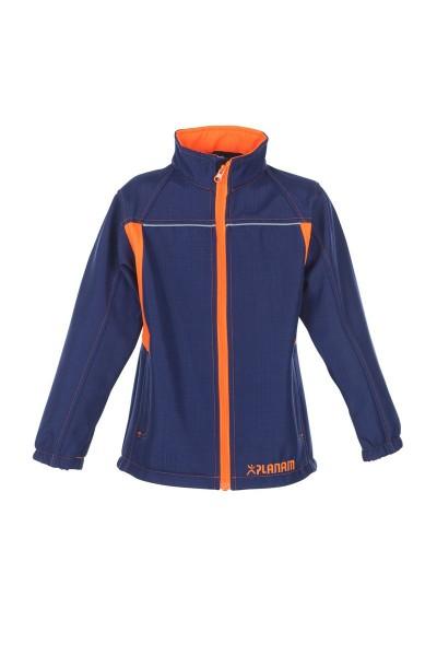 Planam Softshell-Jacke Junior Kinderjacke marine/orange