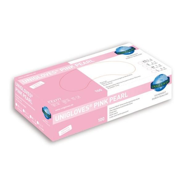 Unigloves Einweg-Handschuhe aus Nitril Pink Pearl Box