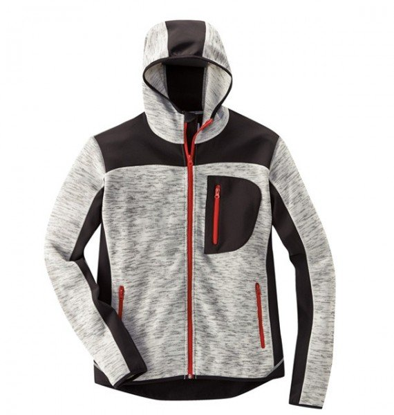 HD Concept Professional Strickjacke grau/meliert/schwarz