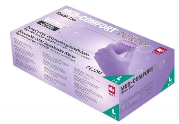 Ampri MED-COMFORT Purple Vitril-Einmalhandschuhe, puderfrei