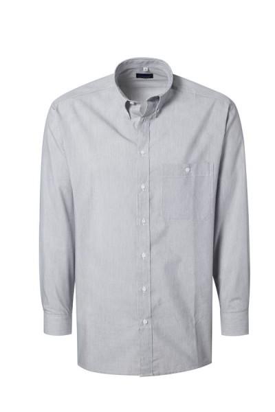 Pionier Business-Hemd 1/1 Arm grau/weiß fein gestrieft