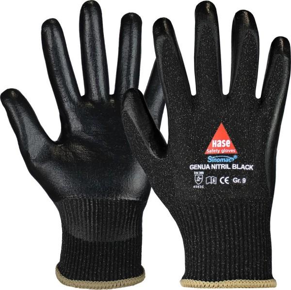 Hase Genua Nitril Black Montage-/Schnittschutzhandschuhe