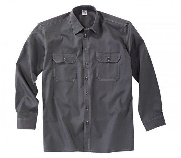 Kübler Shirt-Dress Hemd Langarm Form 7406 anthrazit