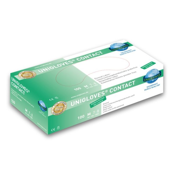 Unigloves Contact Latex Einweg-Handschuhe