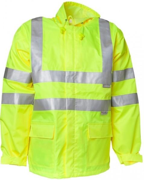 Planam Warnschutz Regen Jacke Uni gelb