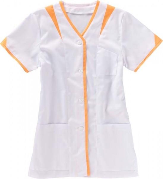 BEB Damenkasack halber Arm weiß/orange