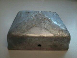 Intergard Pfostenkappe Pyramide Verzinkt 71 x 71 mm 2 Wahl