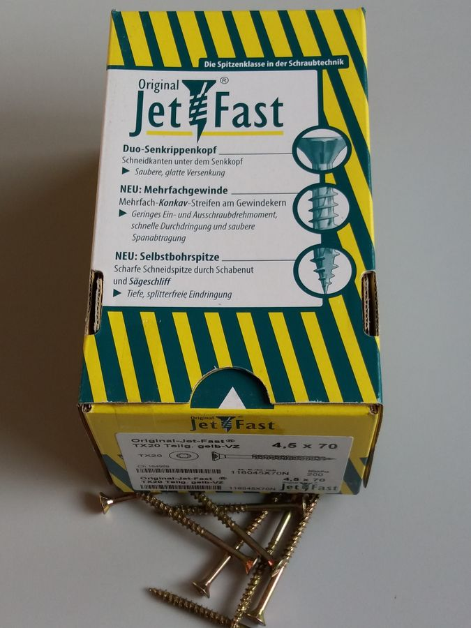 RE-SCHRAUB Terrassofix V2A Paket = 1000 Stück 5,0 x 70