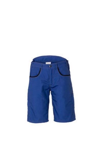 Planam Shorts DuraWork kornblau/schwarz vorne