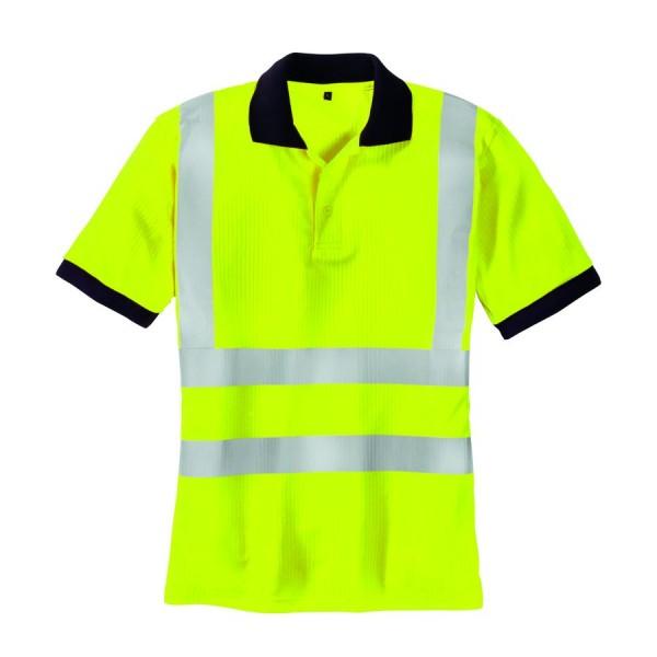 texxor Warnschutz-Polo-Shirt Sylt leuchtgelb
