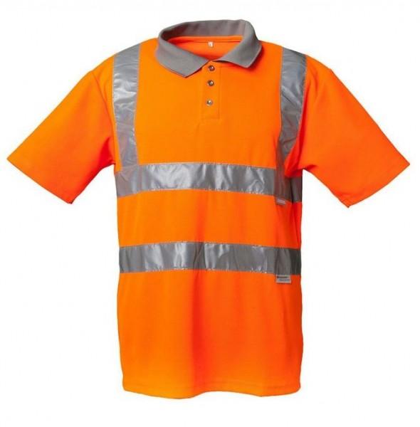 Planam Warnschutz Polo-Shirt 2 farbig