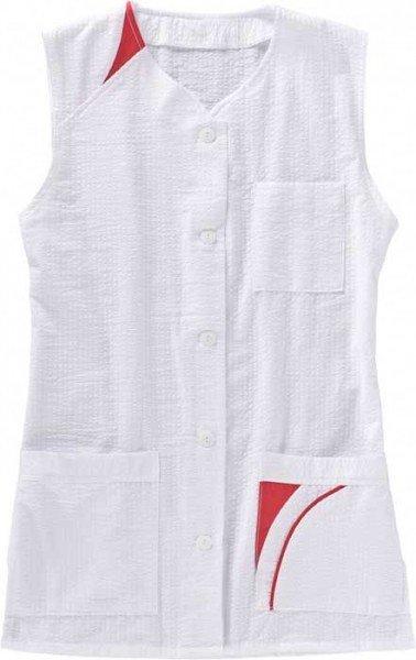 BEB Damenkasack ohne Arm M.227 weiß/weinrot