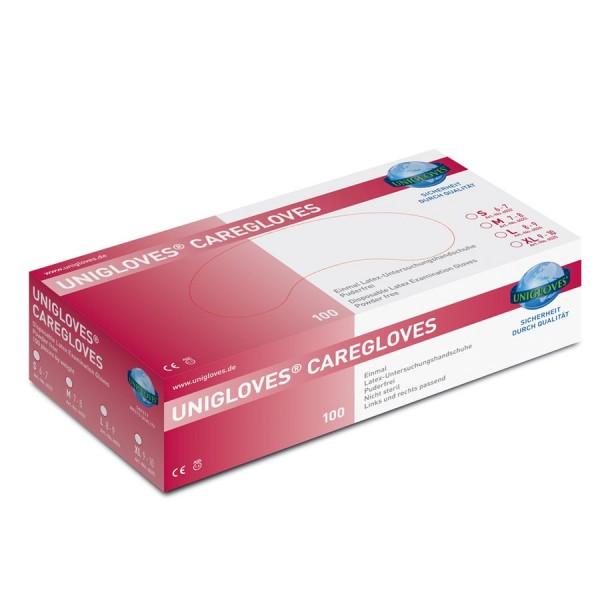 Unigloves Einweg-Handschuhe aus Latex Caregloves Box
