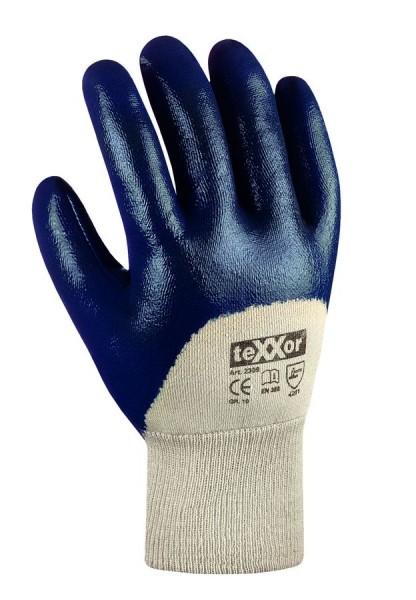 texxor Nitril-Handschuhe Strickbund 2309