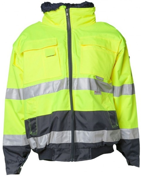 Planam Warnschutz Comfortjacke Kontrast gelb/marine