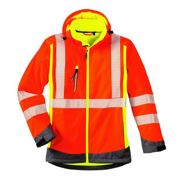 texxor Warnschutz-Softshell-Jacke HOUSTON leuchtorange