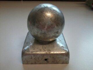 Intergard Pfostenkappe mit Kugel Verzinkt 71 x 71 mm