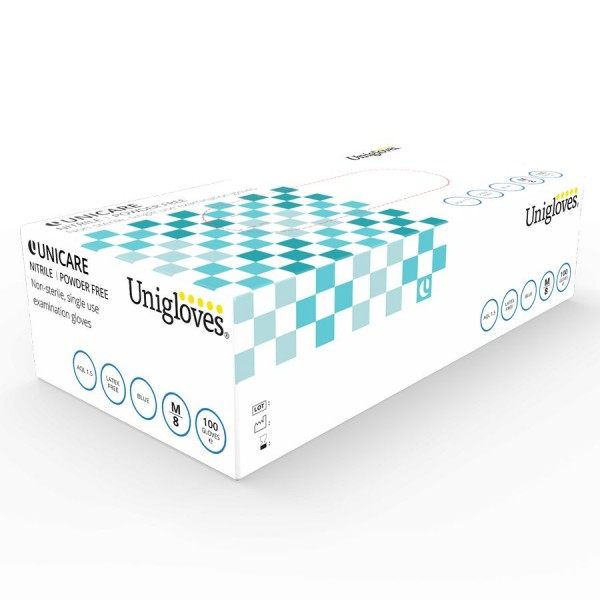 Unigloves UNICARE Soft Nitril Einweg-Handschuhe