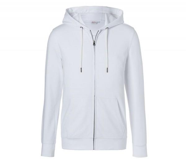Kübler Shirts Kapuzen-Sweatjacke Form 5022 weiß