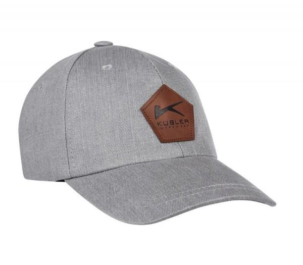 Kübler Basecap mit Emblem hellgrau