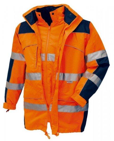 texxor Warnschutz-Parka Toronto mit Jacke leuchtorange/navy
