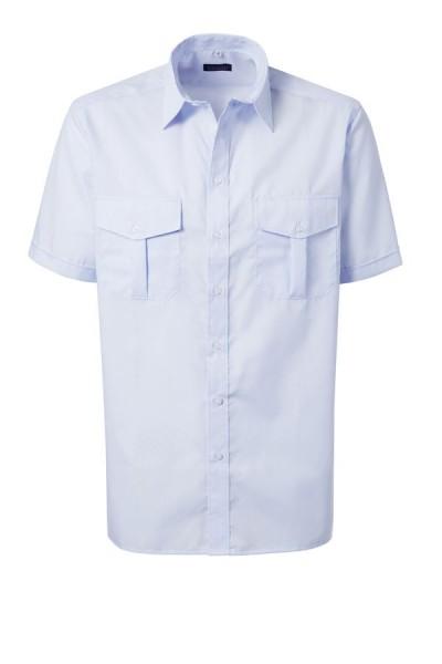 Pionier Pilot Hemd 1/2-Arm ohne Schulterklappen bügelfrei hellblau