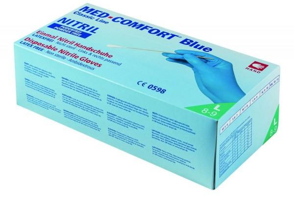 Ampri MED-COMFORT BLUE Nitril-Einmalhandschuhe