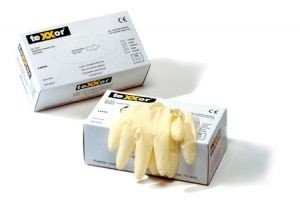 texxor Latex-Einweghandschuhe ungepudert