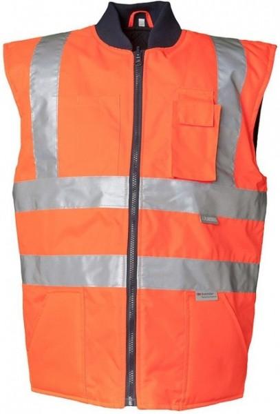 Planam Warnschutz Winterweste Uni orange