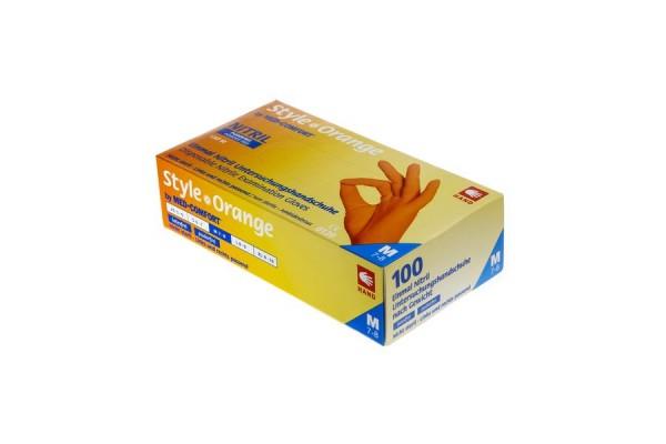 Ampri STYLE ORANGE Nitril-Untersuchungshandschuh, puderfrei, orange