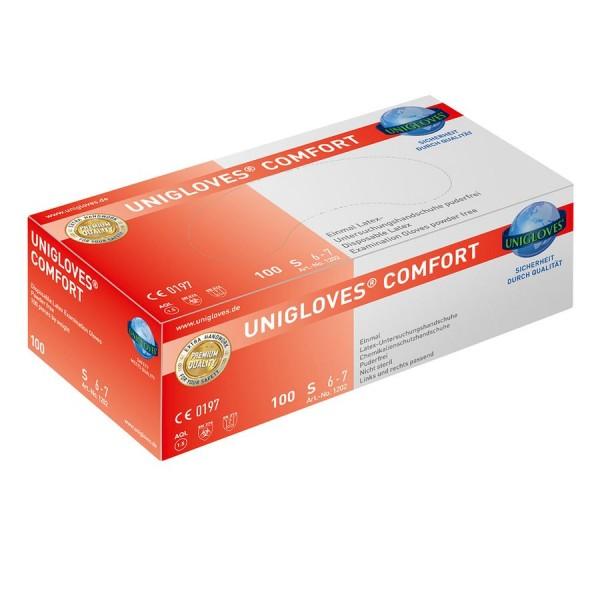 Unigloves Einweg-Handschuhe aus Latex Comfort Box