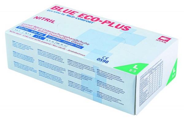 Ampri BLUE ECO-PLUS Nitril-Untersuchungshandschuh, puderfrei
