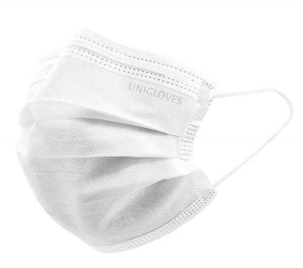 Unigloves Profil Plus OP-Mundschutz mit Gummizug Typ ll R weiß