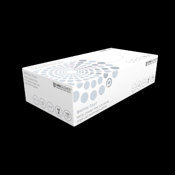 Unigloves Einweg-Untersuchungshandschuhe aus Nitril WHITE PEARL Box