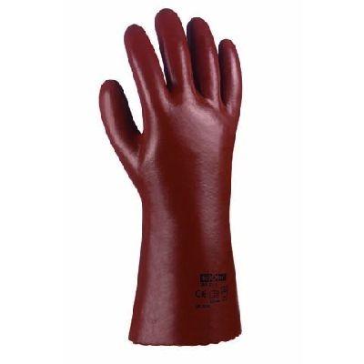 PVC-Handschuhe, rotbraun, 40 cm lang