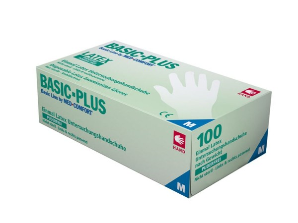 Ampri BASIC PLUS Latex-Untersuchungshandschuh, puderfrei, weiß