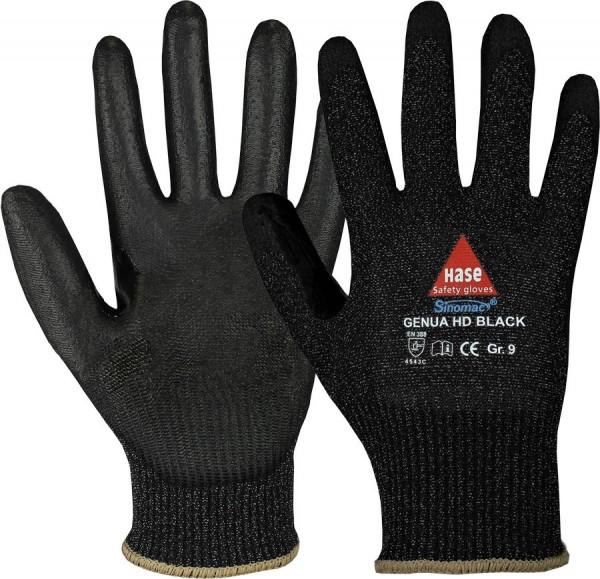 Hase Genua HD Black Montage-/Schnittschutzhandschuhe