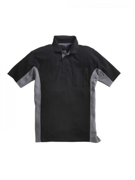 Pionier Poloshirt 2-farbig 1/2-Arm schwarz/grau