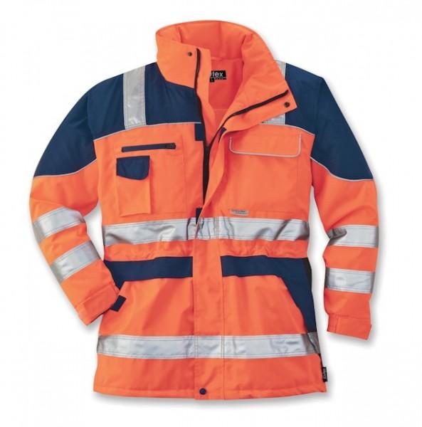 Elutex Warnschutz-Parka Safety Plus orange/navy