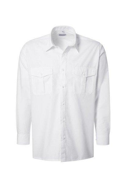 Pionier Pilot-Hemd 1/1 Arm ohne Schulterklappen, weiß